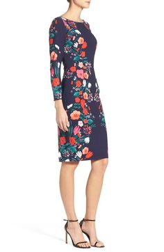Main Image - Eliza J Floral Print Sheath Dress (Regular & Petite)