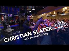 New post on Getmybuzzup TV- Christian Slater Inspires the Late Show's Crowdsurfing Craze- http://wp.me/p7uYSk-tyd- Please Share