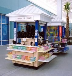 Our indoor retail merchandising units are popular for selling cell phones, toys, and sunglasses.