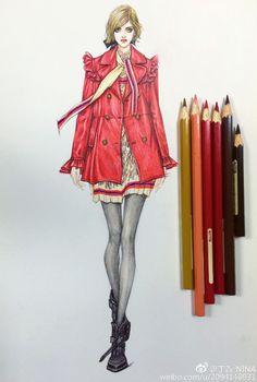 晚课范画皮质案例表达工具:辉柏嘉红盒48色水溶彩铅/120g复印纸