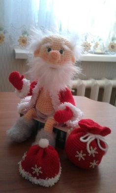 Одноклассники Crochet Tree, Diy Crochet, Crochet Dolls, Crochet Christmas Ornaments, Christmas Toys, New Year's Crafts, Holiday Crafts, 50 Diy Christmas Decorations, Rena