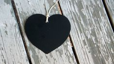 Set of 10 Chalkboard Tags / Labels  Heart by MaggiePaggieDesigns, $7.00