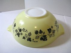 PYREX  Mixing Bowl Vintage 1960's yellow and by TheInstantMemory