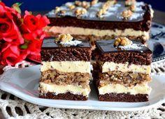 prajitura iris Sweets Recipes, No Bake Desserts, Cookie Recipes, Romanian Desserts, Romanian Food, Pie Dessert, Food Cakes, Something Sweet, Desert Recipes