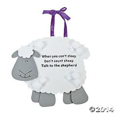 """Talk To the Shepherd"" Lamb Craft Kit - cheap craft but good quote"