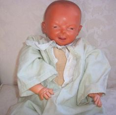 """Ideal Blessed Event doll... We grew up with one of these. We considered it a boy doll. It had been my Aunts. It had a cloth body and a sound box that """"cooed"""" (we thought cried) when squeezed. Pretty sure it's still at the farm."""