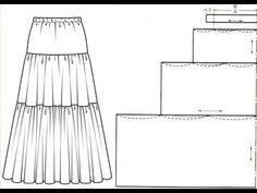 Crinoline replâtrage – indulgent et normal Dress Making Patterns, Skirt Patterns Sewing, Sewing Patterns Free, Sewing Tutorials, Clothing Patterns, Dress Tutorials, Coat Patterns, Blouse Patterns, Techniques Couture