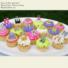 Purse & Shoes Cupcakes!-MyCakeSchool.com Video Library!