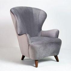 Weiman Preview Wing Chair - Otter    GratsDecor.com