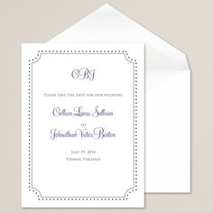 Devine Detail Save the Date Card | #exclusivelyweddings