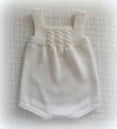 This Is A Lovely Handknitted Baby Romper - Diy Crafts