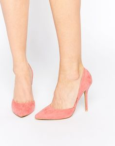 True Decadence Pink Heeled Court Shoes