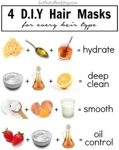 There is a DIY mask for each hair type. Whether your hair is dry or oily, try one of these DIY hair masks. hair mask for dry hair Diy Hair Care, Hair Care Tips, Natural Hair Care, Natural Hair Styles, Natural Beauty, Natural Skin, Natural Face Masks, Organic Beauty, Beauty Care