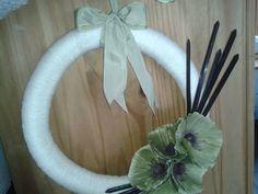 Decorative Yarn Wreath by GleefulGoat on Etsy, £25.00