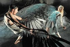 """From """"Crow"""" directed by Mervyn Millar, dance theatre interpretation of the poems of Ted Hughes"""