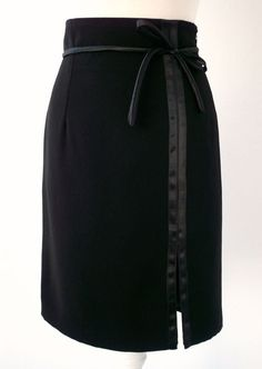 Black Pencil Skirt. Very sexy side opening. Luci Lü by twyggi. Explore more products on http://twyggi.etsy.com