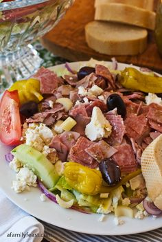 Greek Salad with Meat - a delicious salad inspired by the famous Christo's Restaurant!
