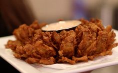 awesome, my family loved it. We used 1 times the seasoning, and substituted sriracha for horseradish sauce. Blooming Onion Recipes, Onion Vegetable, Horseradish Sauce, Mixed Vegetables, Recipes From Heaven, How To Dry Oregano, Air Fryer Recipes, Junk Food, Veggie Recipes