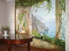 Art painting and wall murals are exclusive trends in home decorating