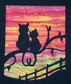 PATCHWORK-QUILTING-APPLIQUE-CAT-WALL-HANGING-SEWING-PATTERN