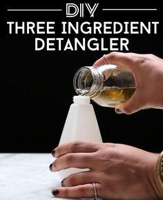 Mix: -6 oz. aloe vera juice -1 tbsp. jojoba oil -1 tbsp. avocado oil  Spray.  Love your life tangle free.