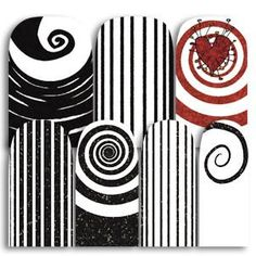 What's black and white and red all over? These Burtonesque wraps, of course! Complete with...