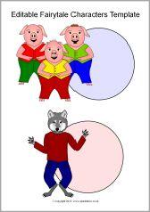 Editable fairytale characters templates (SB11178) - SparkleBox