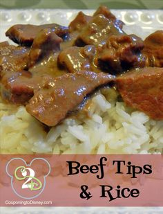 I don't know about the rest of the country, but in the south, slow cooker beef tips and rice is a favorite.  What makes it even better is you can throw everything in the Crock-Pot with no prep before and all you have to do when you get home is make the rice!