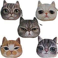 Cute Lifelike Cat Face Bag Zipper Case Coin Money Purse Wallet Bag Pouch Handbag Enjoydeal http://www.amazon.com/dp/B00SKMPLVS/ref=cm_sw_r_pi_dp_8aeuvb17E8XXJ