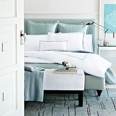 Hudson Park Italian Percale Bedding, Seaglass - Bedding - Bed & Bath - Categories - Home - Bloomingdale'sRegistry