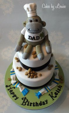 Monkey cake...thought those peanuts were something else for a second!