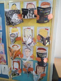 Margaret Catholic School Art Show School Projects, Projects For Kids, Art Projects, Crafts For Kids, Arts And Crafts, 2nd Grade Art, Ecole Art, Class Decoration, Library Displays