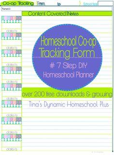 Homeschool Co op Tracking Form–7 Step DIY Homeschool Planner  #7stepdiyhomeschoolplanner #homeschoolcoopplanning