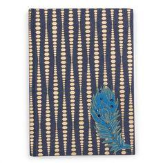 Feather appliqué journal