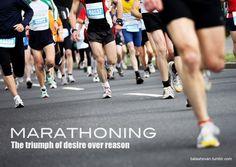The truimph of desire over reason #marathon #26point2