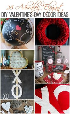28 Adorably Elegant DIY Valentine's Day Decor Ideas at The Happy Housie