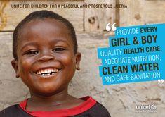 UNICEF Liberia advocacy poster