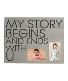 Look at this #zulilyfind! 'My Story Begins' Photo Plaque Wall Art by Lifetime Brands #zulilyfinds