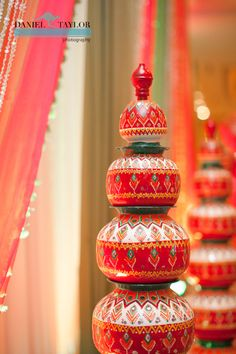 Beautiful decorations filled the Wynfrey Hotel during the mehndi night at this Pakistani wedding