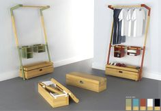 Pop-up closet and shelves perfect for tiny spaces