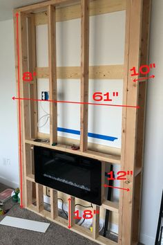 Fireplace Tv Wall, Build A Fireplace, Shiplap Fireplace, Fireplace Remodel, Modern Fireplace, Fireplace Surrounds, Fireplace Design, Simple Fireplace, Built In Electric Fireplace