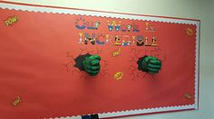 3D hulk work display Twinkl