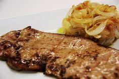 Foto de la receta de bistec encebollado