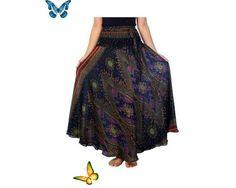 Women's Long Dark Blue Maxi Skirt  Bohemian Gypsy Hippie | Etsy Women's Long Dark Blue Maxi Skirt Bohemian Gypsy Hippie | Etsy<br> Hippie Style Clothing, Hippie Outfits, Gypsy Clothing, Boho Fashion, Fashion Outfits, Bohemian Gypsy, Gypsy Style, Boho Style, Plus Size Skirts