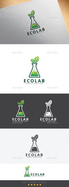 Eco Lab - Logo Design Template Vector #logotype Download it here: http://graphicriver.net/item/eco-lab-logo/9454658?s_rank=1600?ref=nexion
