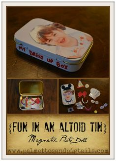 Magnetic Photo Dolls out of an Altoid Tin by Palmettos and Pigtails