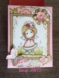 http://scrapanto.blogspot.it Scrap box with Tilda Magnolia stamp, Distress Ink
