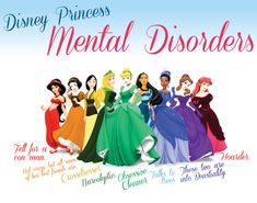 Disney Princess Mental Disorders - funny....but kinda true when you think about it!