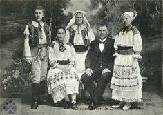 "leregretdestempspasses: ""Family from Zliechov, Slovakia 1905 "" Folk Costume, Costumes, European Countries, Eastern Europe, Culture, Czech Republic, Scissors, German, Polish"