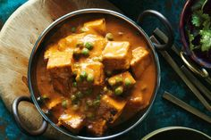 """This quick and easy pea and cheese curry, which tastes like a vegetarian butter chicken, comes from our acting chief sub-editor, Akash Arora. Balti means """"bucket"""" in Hindi and, in this case, is the actual cooking vessel. It's India's very own one-pot wonder"""